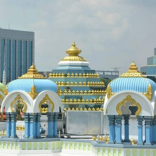 The Chatris (ornate dome-shaped pavilions)