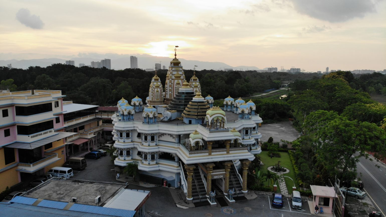 Aerial view of the temple complex.
